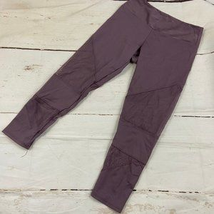 Onzie Purple and mesh cropped midrise legging